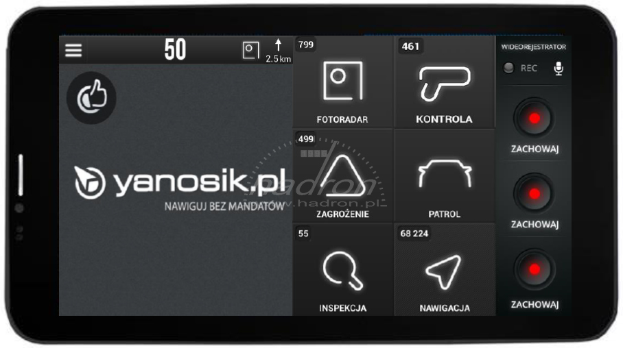Integracja Yanosik Connect z Yanosik DVR