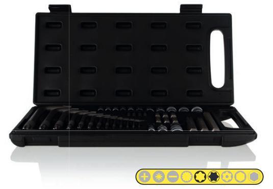 Zestaw kluczy i nasadek TORX 40 sztuk