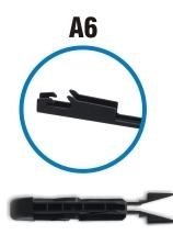 Adapter do wycieraczek A6 Flat Tab