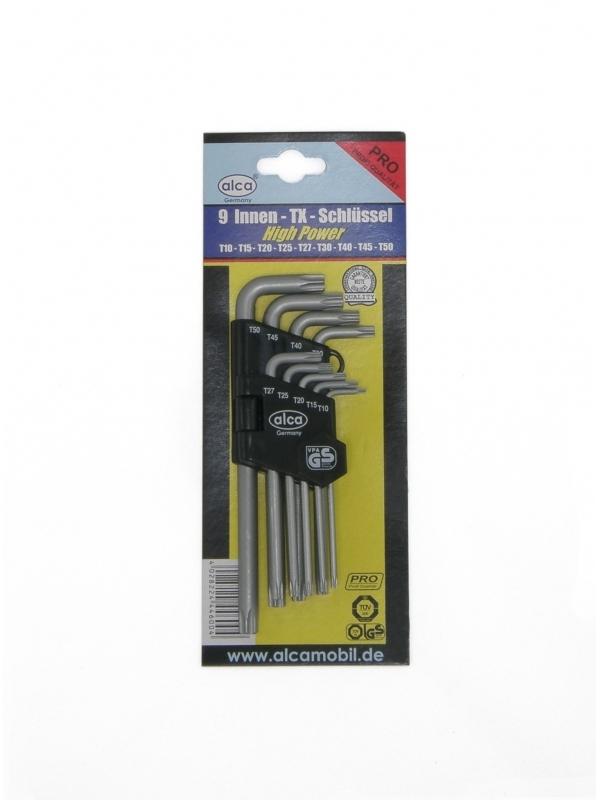 Zestaw kluczy wewnętrznych TORX 9 sztuk, PRO